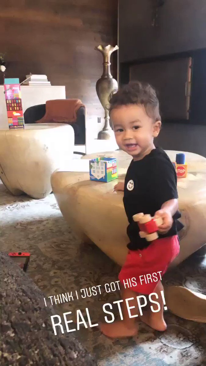 Chrissy Teigen Manages to Capture Miles's First Steps, and OMG — It's a Priceless Moment