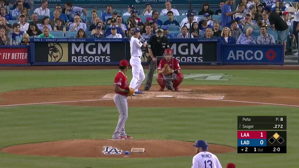 Mike Trout threw a perfect 98.6 MPH laser to get out at home plate