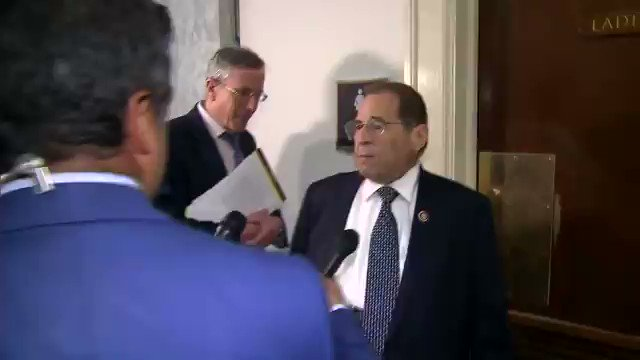 "Rep. Jerry Nadler: ""The president and the attorney general have systematically lied to the American people about what was in [the Mueller] report. They've said no obstruction, no collusion, he was totally exonerated. All of those 3 statements are not true."" Via The Hill"