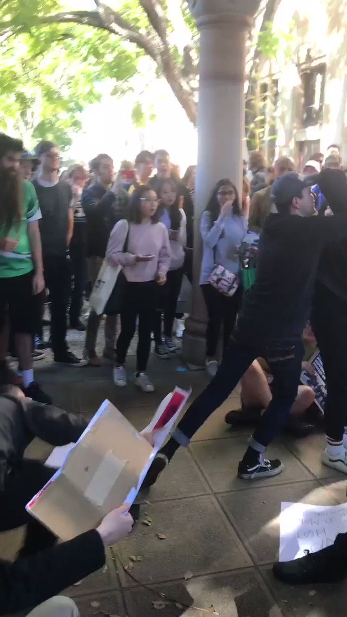 Pro-China and pro-Hong Kong students clash at University of