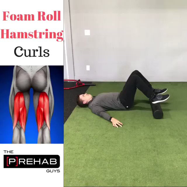 Image for the Tweet beginning: Foam Roller Hamstring Curls. Want