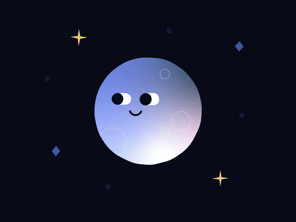 Happy Friday! Here's a moon mooning you 🌚🍑dribbble.com/shots/6843489-… #animation