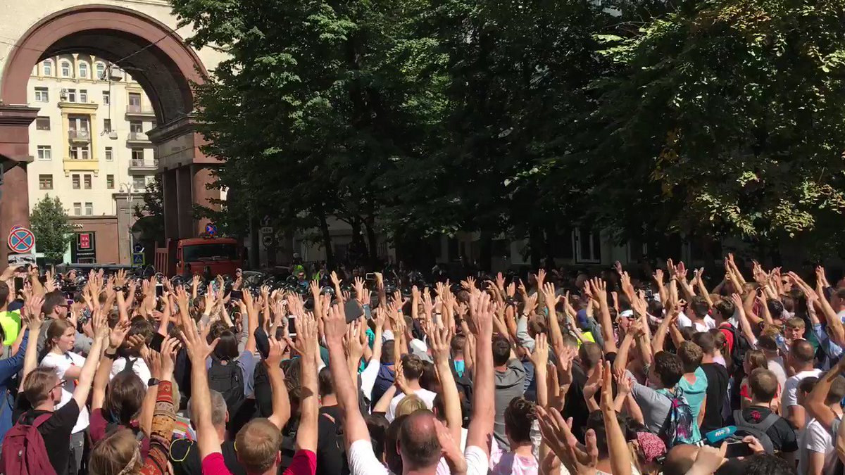 This is Moscow protesting Putin. Blown away by the courage of the Russian people.