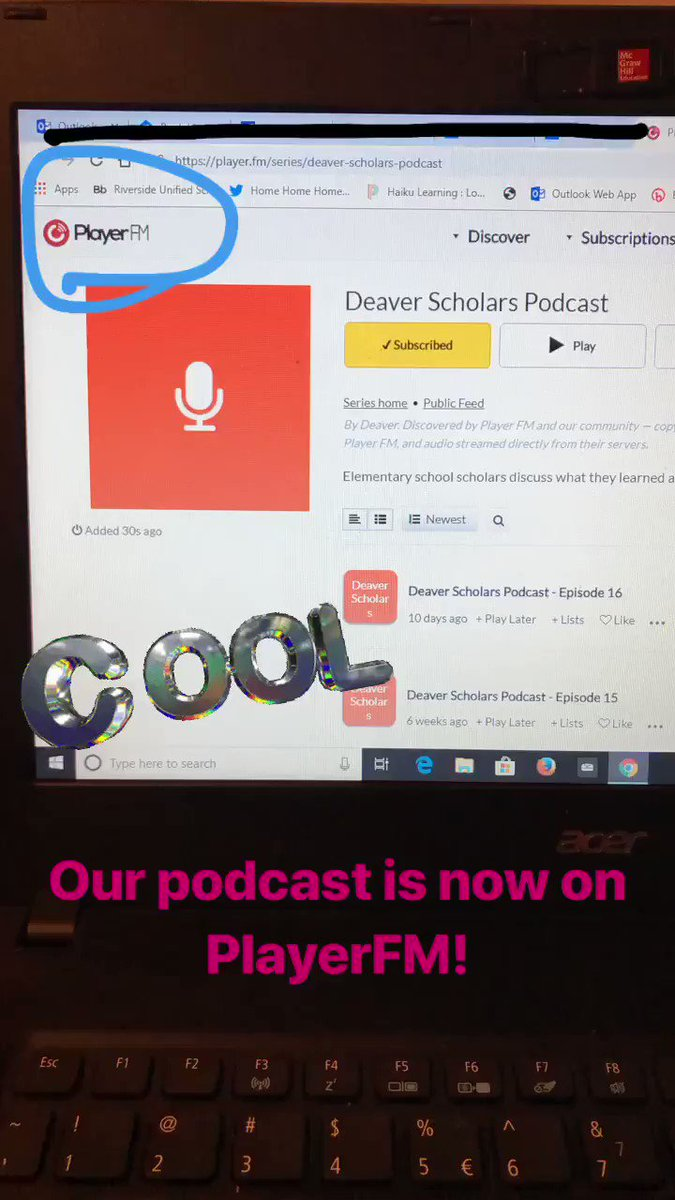 Deaver Scholars Podcast is now on @PlayerFM #podcast #educationpodcast #subscribe