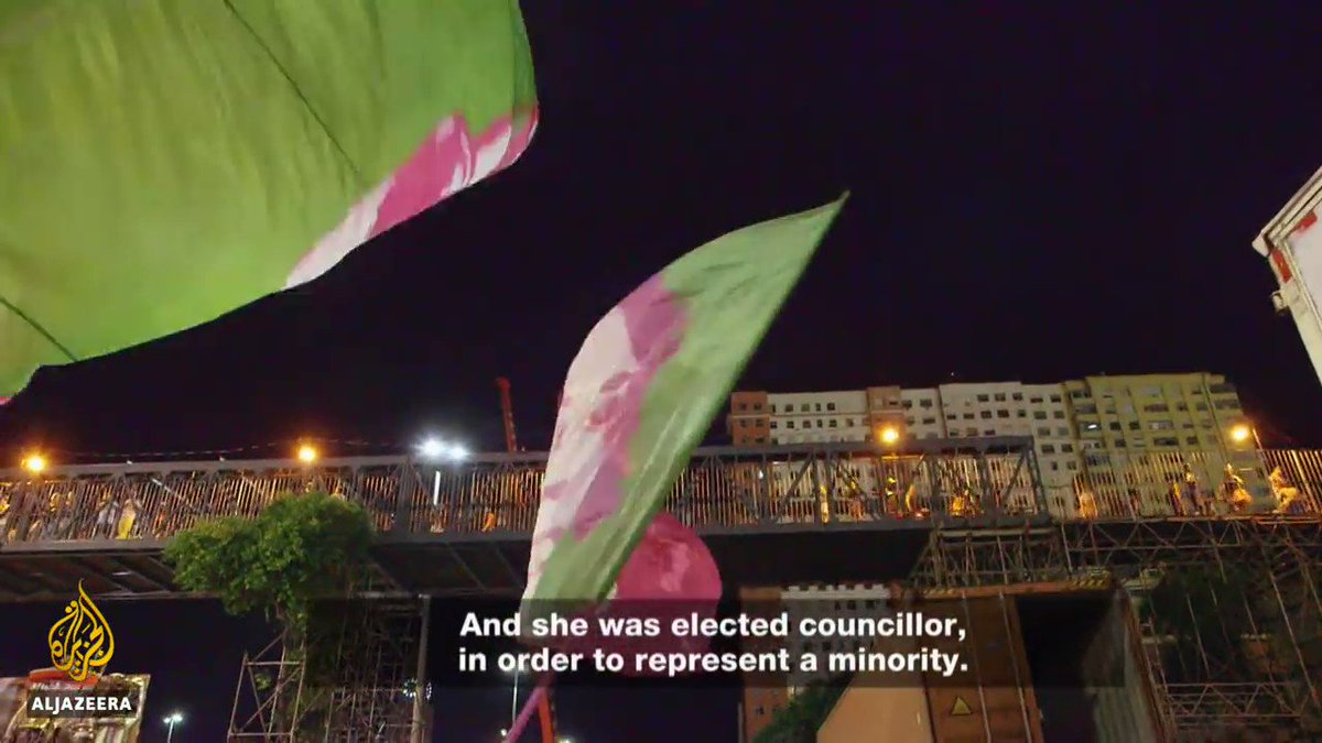 It's hard to convey to people outside of Brazil what a singular force of power and good was lost when Marielle was assassinated. It was precisely those attributes that caused the monsters who killed her to fear her. This Al Jazeera clip shows some of her unique greatness: https://t.co/TKHT1NUlRu