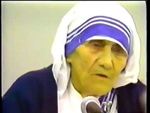 Mother Teresa explains how her charity was to convert people before they die.  Gates of heaven are opened only for Christians!  One of the largest patrons of this conversion cartel was Goenka group that owns most Bollywood music under Saregama banner
