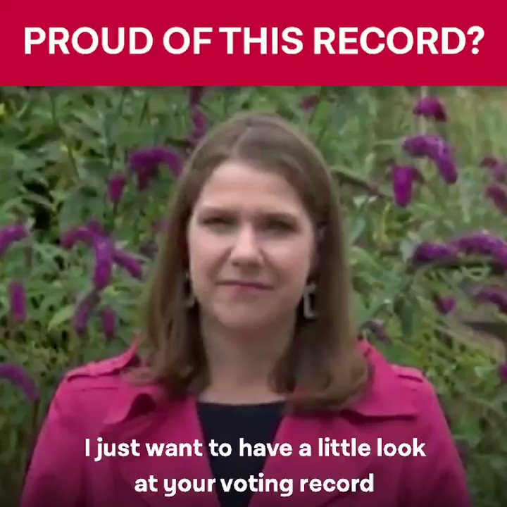 As a minister in a Tory-led government, Jo Swinson voted for the bedroom tax, universal credit, tripling tuition fees, scrapping support for poorer students, and capping benefits below inflation. My constituents cant forget the pain and hardship the Lib Dems caused.