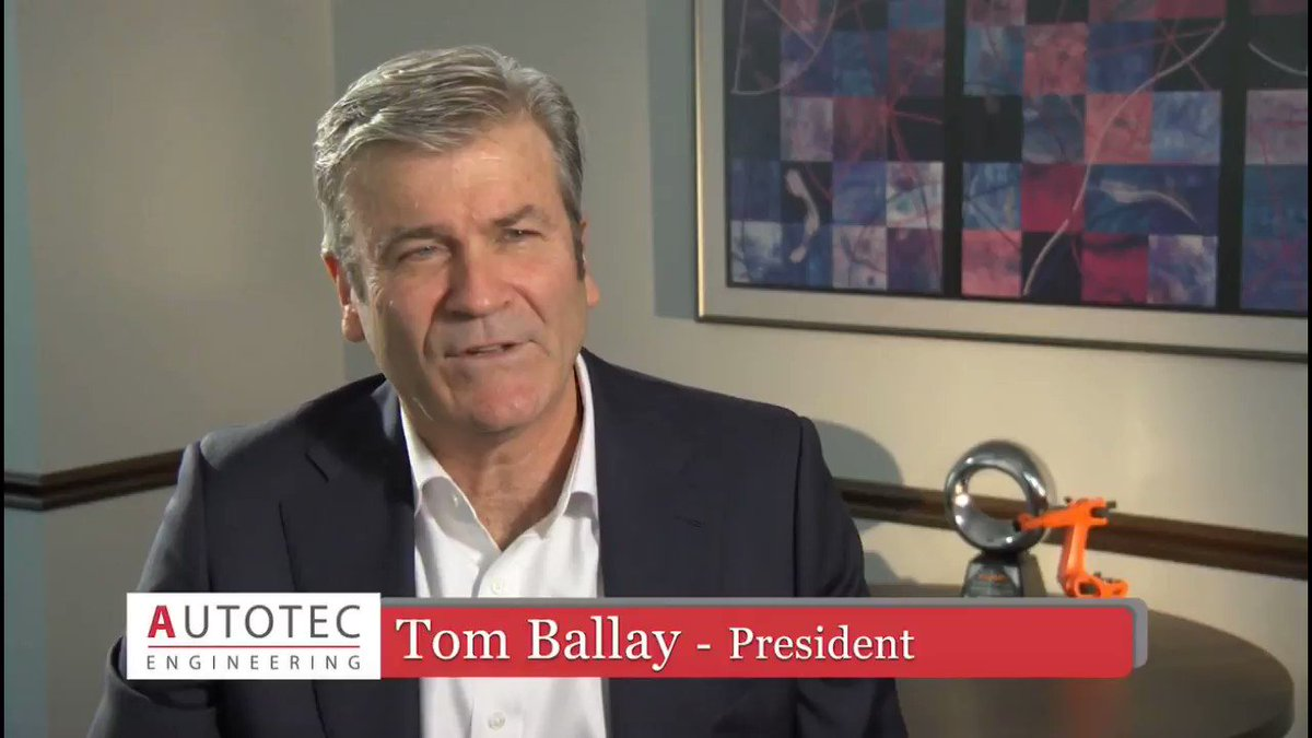 Image for the Tweet beginning: Autotec Solutions President Tom Ballay