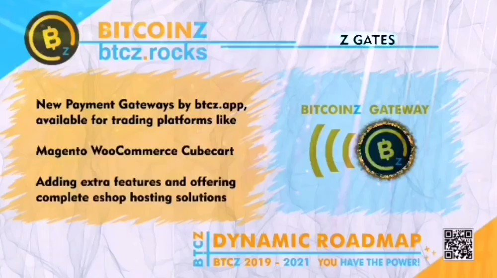 Image for the Tweet beginning: #BitcoinZ #Dynamic #Roadmap: Even more Payment