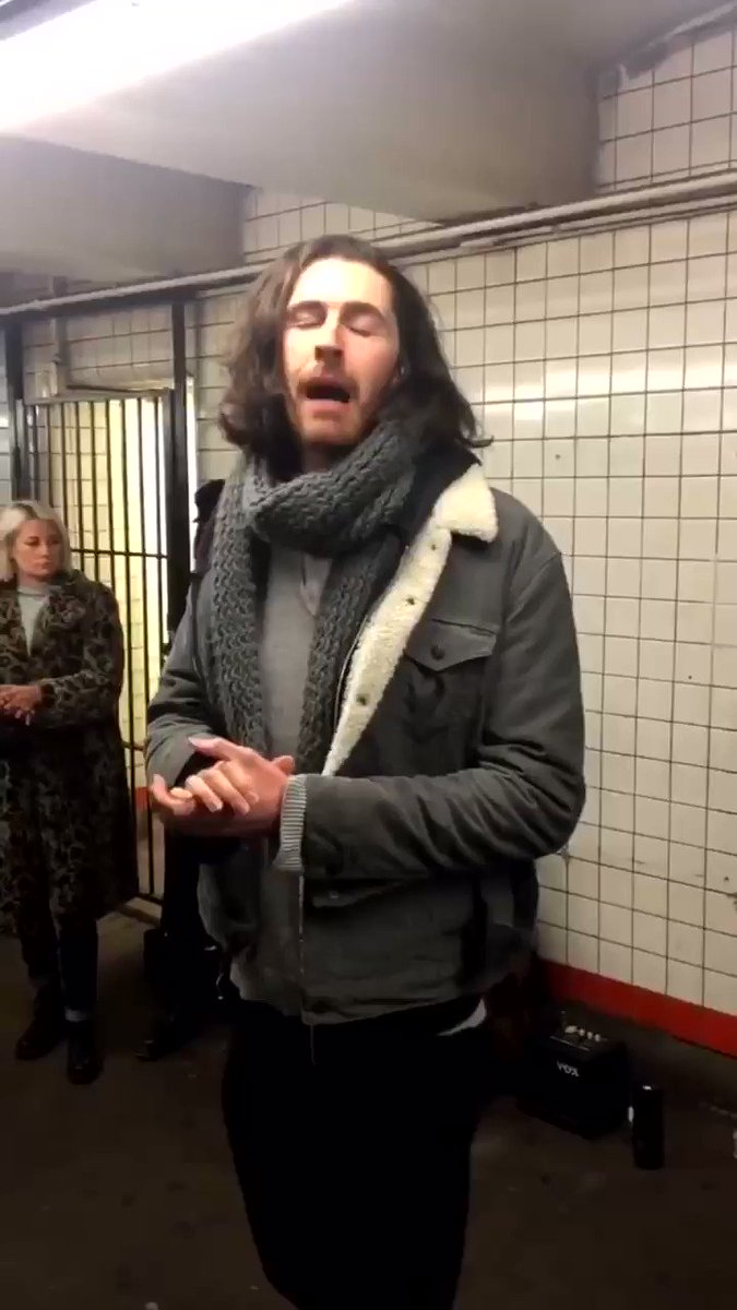 to celebrate jesus birthday here's a video of him singing in the subway