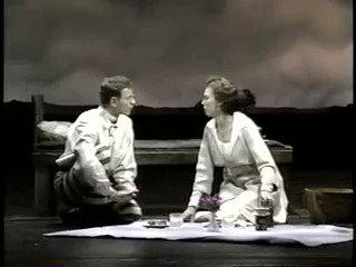 Hal Prince could do spectacle like no one else, but he was also a master of intimacy. This scene in PARADE - a couple truly knowing each other for the first time - is all subtle blocking and gestures that seem invisible but still land in the back of the house. Unforgettable.