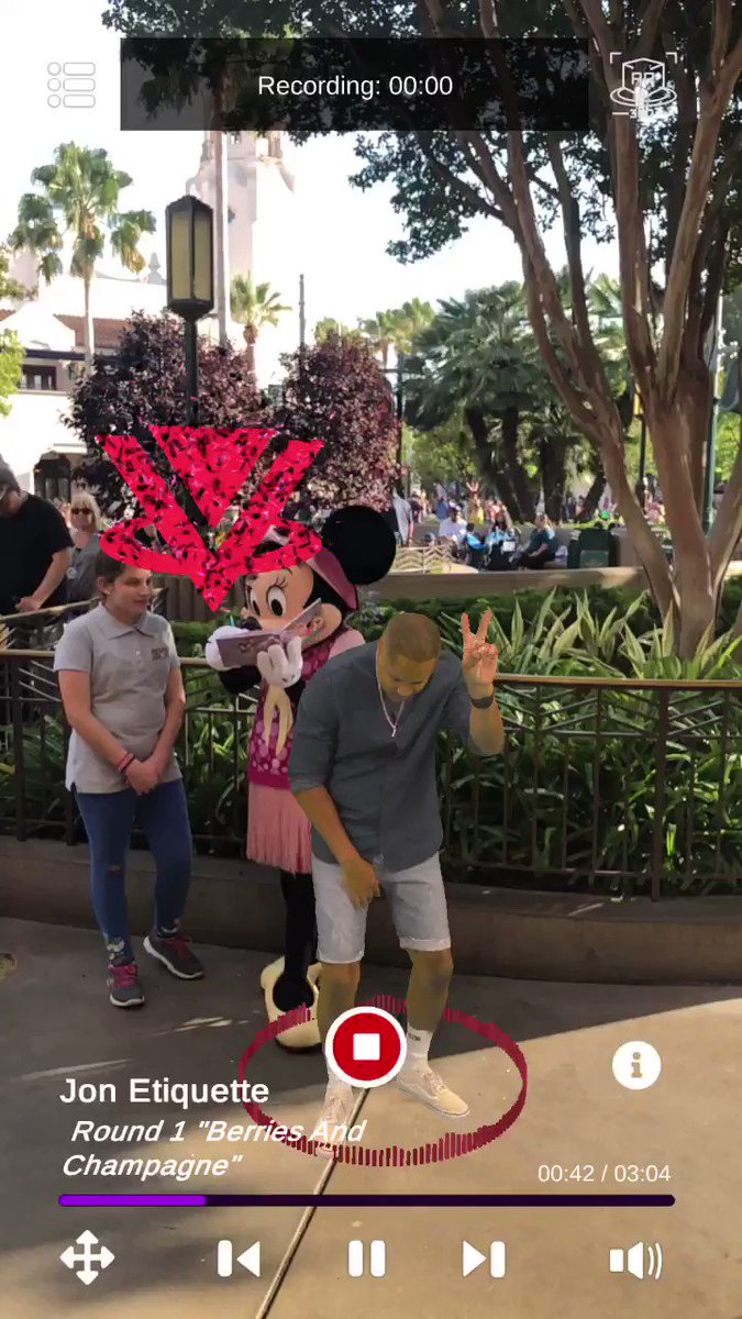 Image for the Tweet beginning: Holograms busking at Disneyland alongside