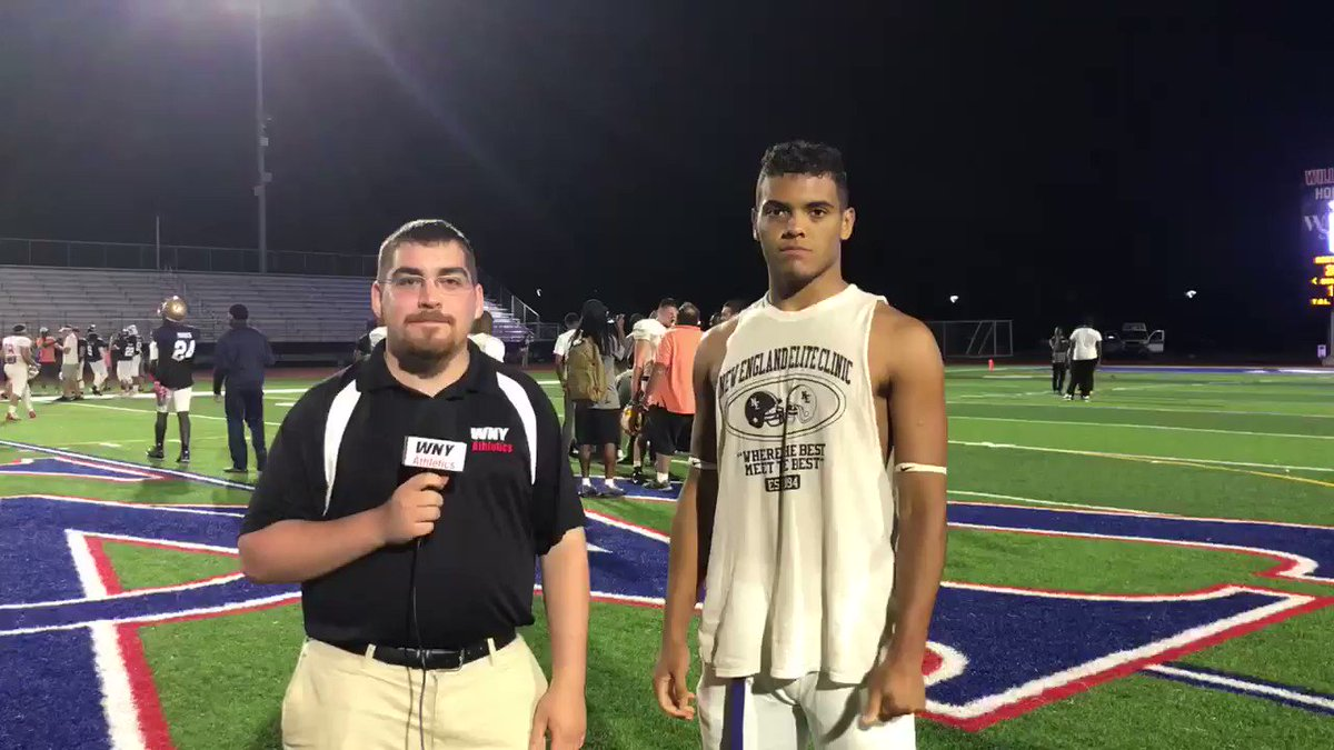 Tyler Bailey of @FalconPride51 after the Kensington Lions All-Star Classic @ECCKatsFootball @PrepStarWNY