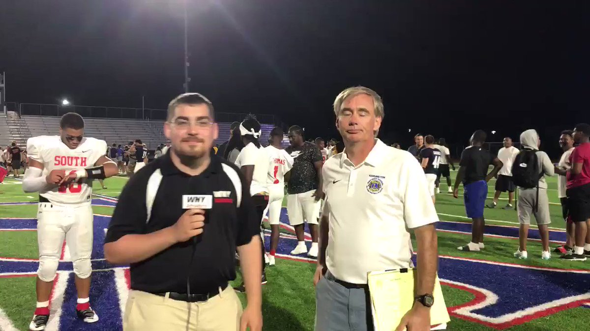 Kensington Lions All-Star Classic Chairman Len Thornton after the game