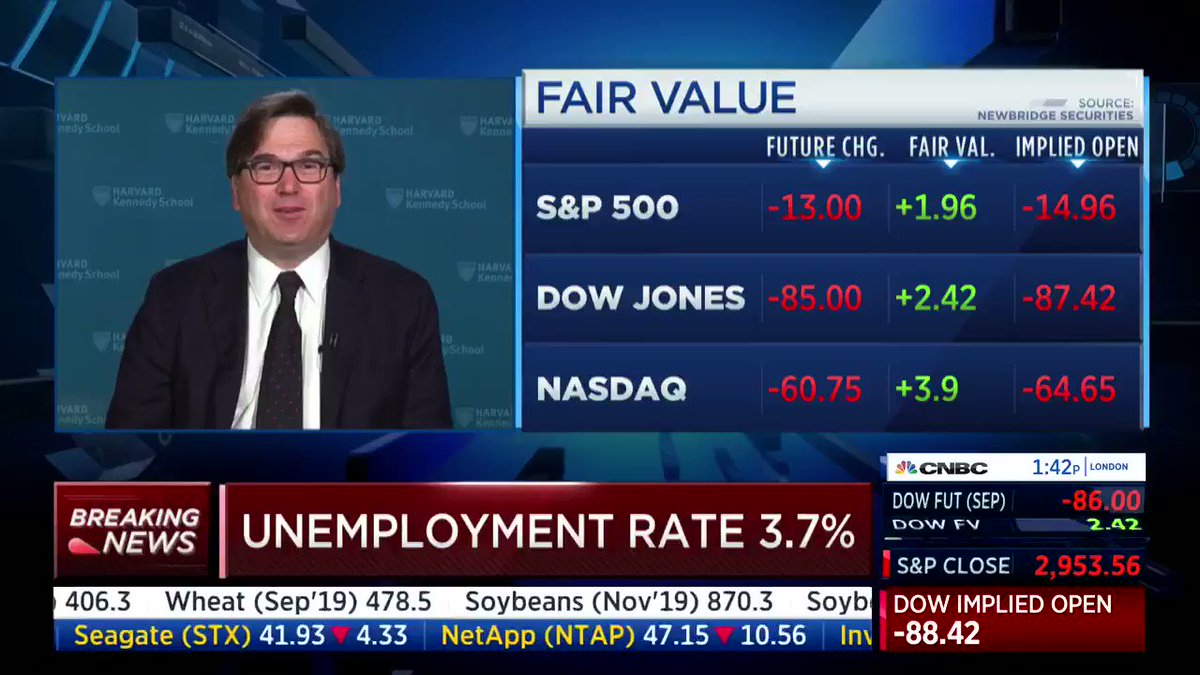 Why are Democrats not talking about the economy? Simple, because they have nothing to say! Thanks, @realDonaldTrump! #JobsReport