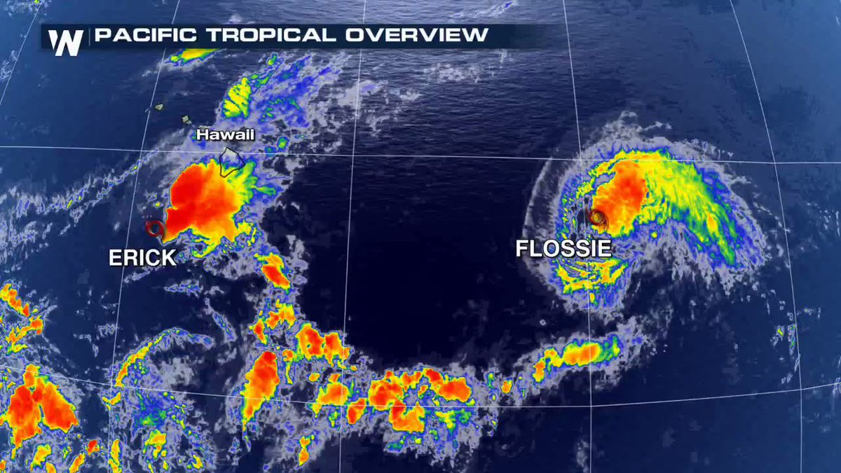 Tropics Update: Hawaii now finds itself wedged between two tropical cyclones with attention turning to #Flossie. Full story here -> https://t.co/8kKmu892Td https://t.co/JqUor37fiI