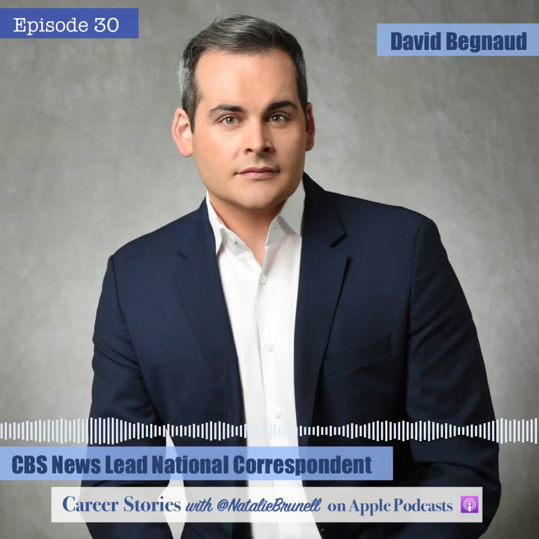 His intrepid and tireless reporting on both #HurricaneMaria and #RickyRenunciaYa #RickyVeteYa #RickySeFue have made waves in Puerto Rico and beyond. Hear the inspiring career story of @CBSNews Lead Nat'l Correspondent @DavidBegnaud: https://podcasts.apple.com/us/podcast/career-stories/id1451439126?i=1000445880670 …