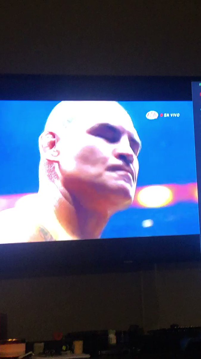 Successful debut for my boy @cainmma , he did so good. I didn't even know he could do a flip lol. What an athlete. Good job brother. I am so happy for you, Michelle , coral and little Cain!!!#eltoro #TriplemaniaXXVII