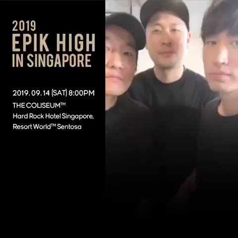 EPIK HIGH in SINGAPORE!!! Limited GA tix still available!!! If this tweet hits 2019 RTs, I will post the setlist!!! 🤘🏻🤘🏻🤘🏻 #epikhigh2019tour