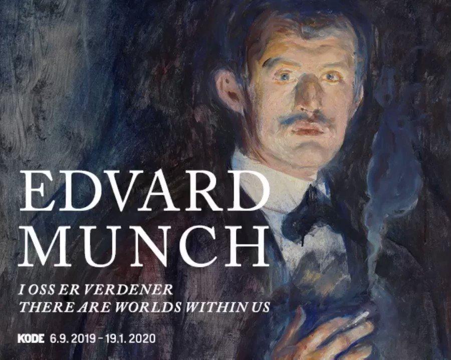 En måned igjen: Denne høsten blir Bergen verdens Munch-hovedstad! Fredag 6. september åpner KODE to utstillinger med sentrale verk av Edvard Munch, fra maleri og grafikk til foto og film. Les mer: kodebergen.no/utstillinger/e… #edvardmunch