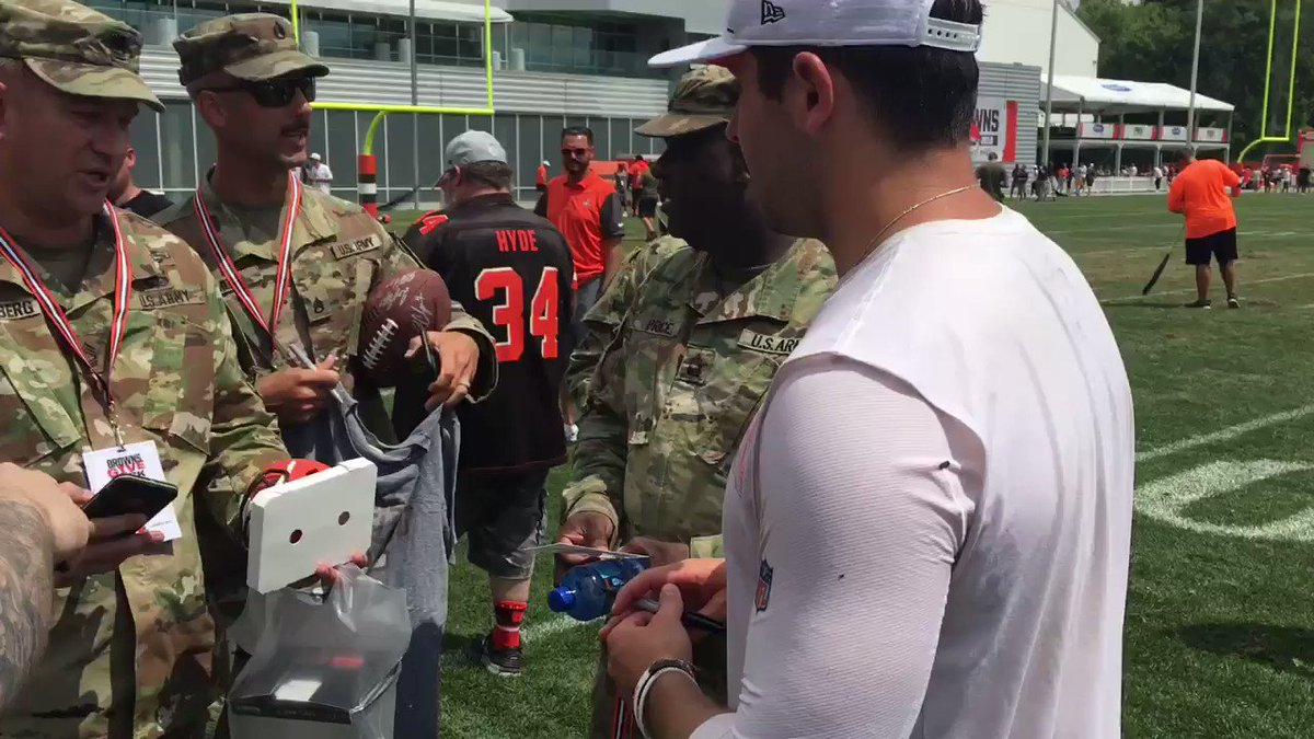 Baker Mayfield Getting Praised For Heartwarming Act At Browns Practice