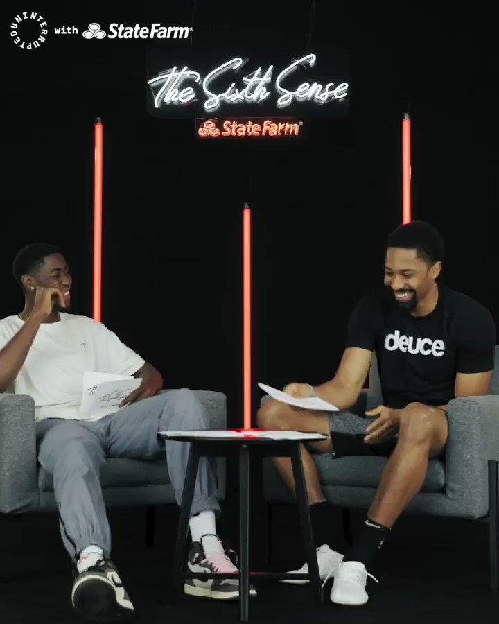 .@SDinwiddie_25 thinks he's got me figured out. Cozy boys forever!  @uninterrupted x @StateFarm #TheSixthSense