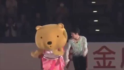 A cute collaboration. Soo cute. 🐻🐻 #YuzuruHanyu #羽生結弦
