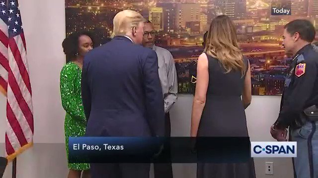 "In El Paso, after visiting Dayton, a reporter asked trump to describe what he'd seen. He answered with, ""The love, the respect for the office of the presidency.""Not one word about the victims or their families. Just him. All him. All the time."