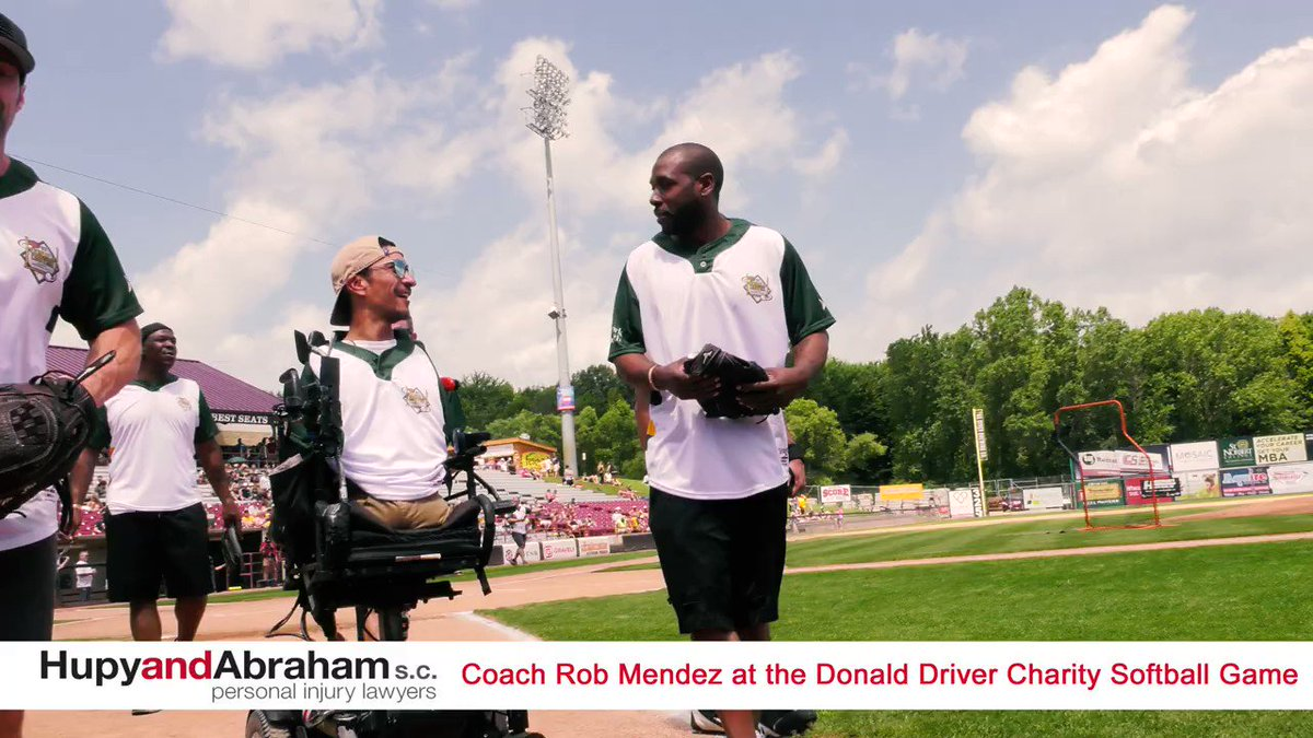 You WON'T want to miss this awesome interview from the @Donald_Driver80 Charity Softball Game. Attorney Abraham got to catch up with 2019 @espn @ESPYS Jimmy V Award Winner @coachrobmendez!! #WHOSAYSICANT #ESPYS @Lammi_Sports