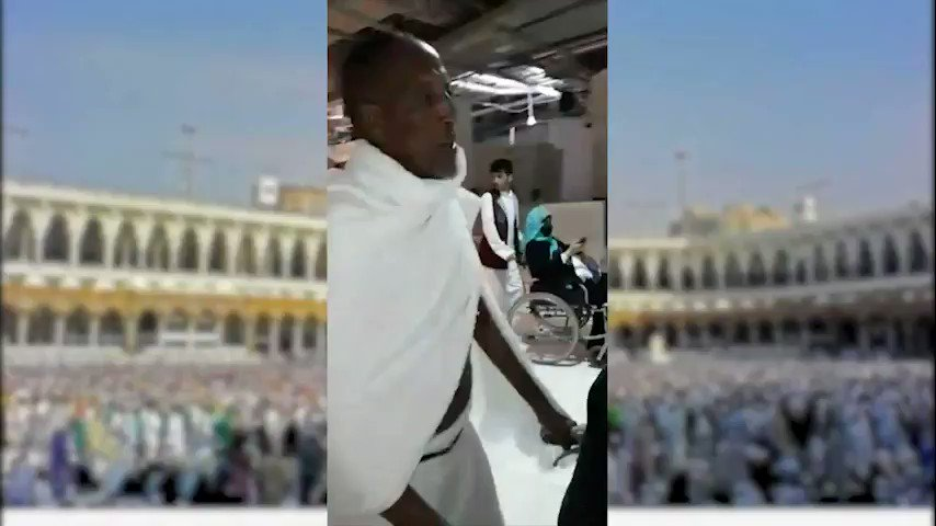 Hon. President Bihi, his mother, and the rest of Somaliland delegation performing Hajj rituals.