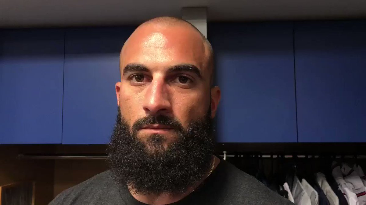 VIDEO: Nick Markakis gives an update on his fractured wrist. #Braves