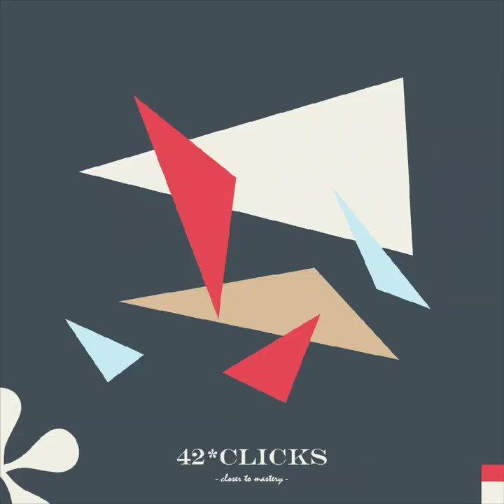42 clicks closer to mastery.