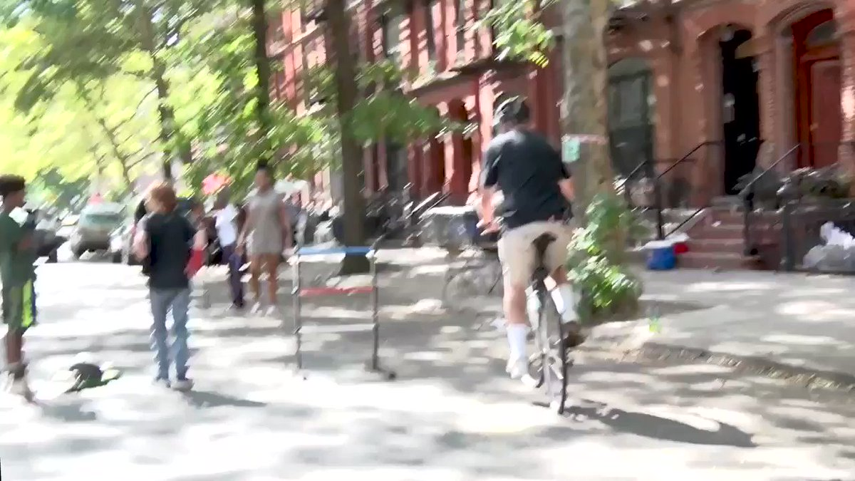 Having fun biking in Brooklyn this weekend and came across a great block party.   Check out my beginner's luck at Ladder Ball!