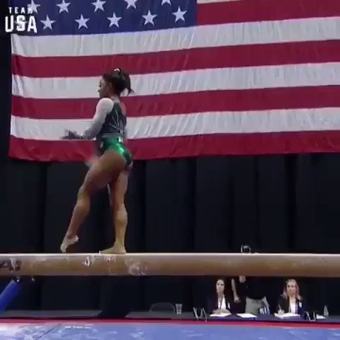 ❗️Congrats to @Simone_Biles  The FIRST person in #HISTORY to perform a double-double dismount on a beam.