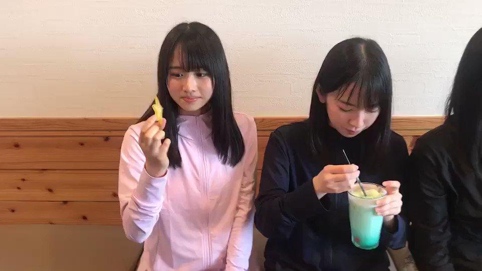 スターフルーツの食レポをするひなのなのと見守る優しいお姉ちゃん金村美玖#日向坂46 #上村ひなの #金村美玖