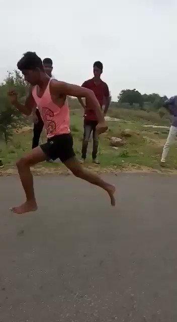 #Pls watch.!#If this boy can finish 100 meter line in 11 sec's,he can finish it even in 9 sec's,if he gets good shoes and proper training#अगर इस बालक को अच्चे जूते और ट्रेनिंग मिल जाये तो 11 सेकंड की जगह 9 सेकंड में भी 100 मीटर दूरी तय कर सकता है@OfficeOfKNath@jitupatwari