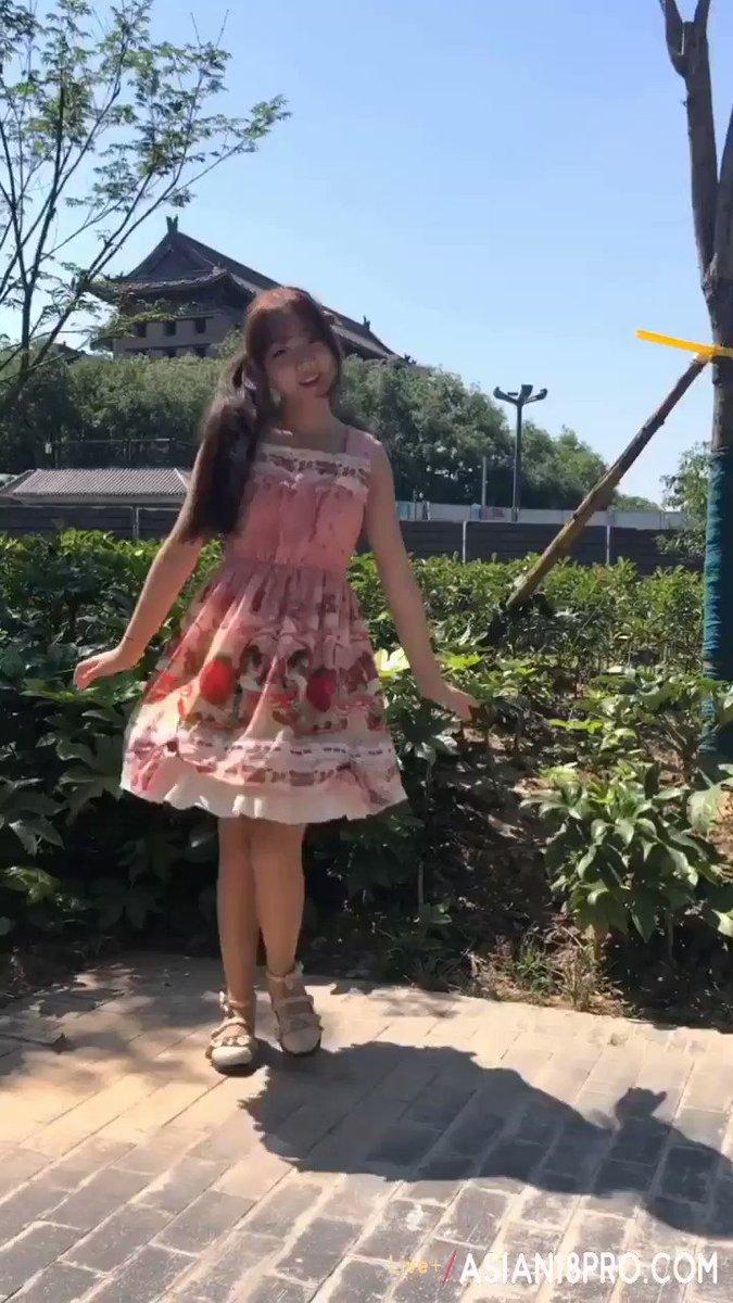 ⭐ - B站UP主 双马尾LO娘大街上裸跳宅舞露出! 上海陆家嘴
