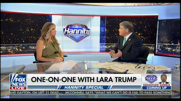"""""""We have a fighter in office, in the White House, who we know has our back."""" -@LaraLeaTrump"""
