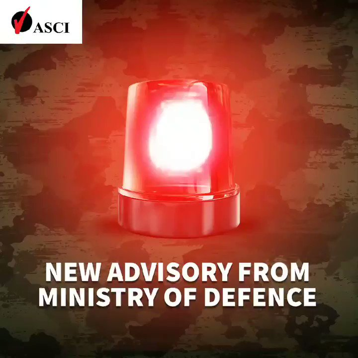 #ASCIAlert In a new advisory, the Additional Directorate General of Public Information has stated that ads depicting #actors in #military fatigues will need approval from them prior to release. @TheAdClub_India @AAAIOfficial #defenceservices #IndianArmy  #ASCIAdGuide https://t.co/TCklWj2lT1