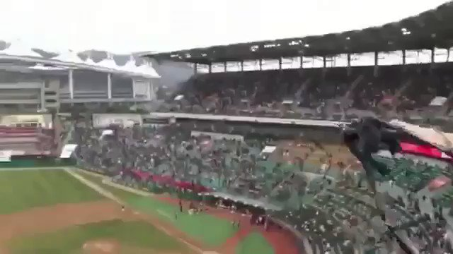 This is staggering. Opening of the South Korean pro baseball championship uses 5G technology to crank up the entertainment. Enter the dragon . . .