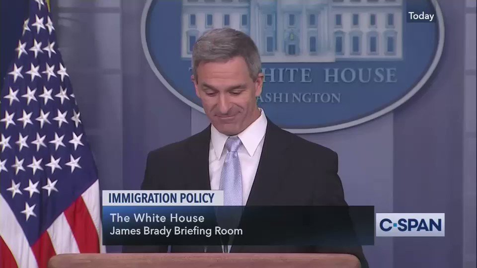 Cuccinelli when asked if the Lazarus poem on the Statue of Liberty still applies under the new public charge rule on immigration: Im certainly not prepared to take anything off the Statue of Liberty.