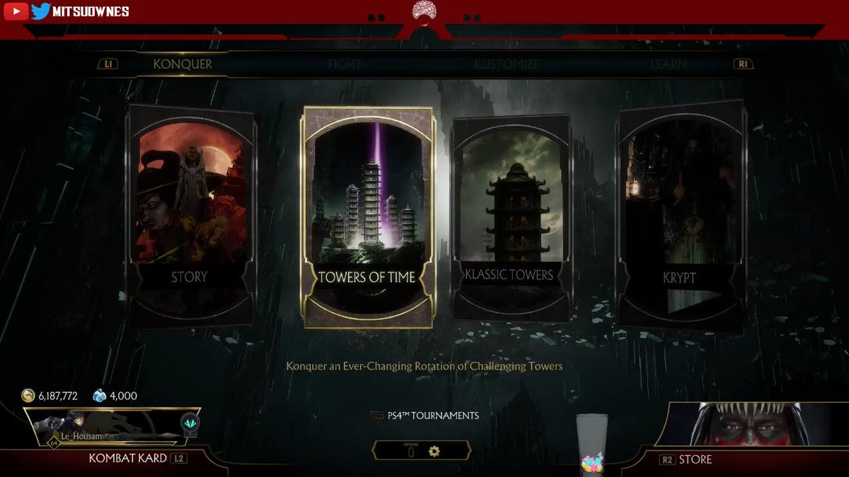 PSA #MortalKombat11 Players!Nightwolf has a Tower of Time live right now!You can unlock a bunch of gear already!