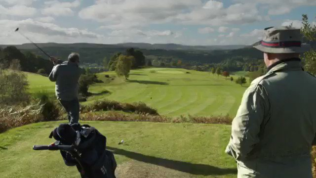 Taster from this Fridays ep in Scotland, taking a break from the river #gonegolfing  #gonefishing