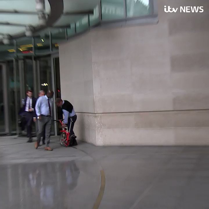 Former chancellor Philip Hammond declines to answer Brexit questions when approached by ITV News, after he accused the PM of trying to wreck the chances of a new deal with the EU itv.com/news/2019-08-1…