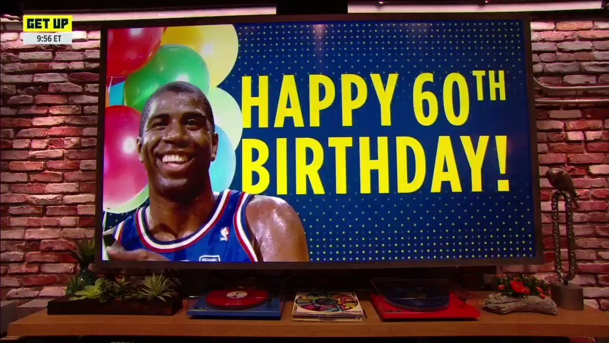 Happy 60th Birthday to our friend, @MagicJohnson!