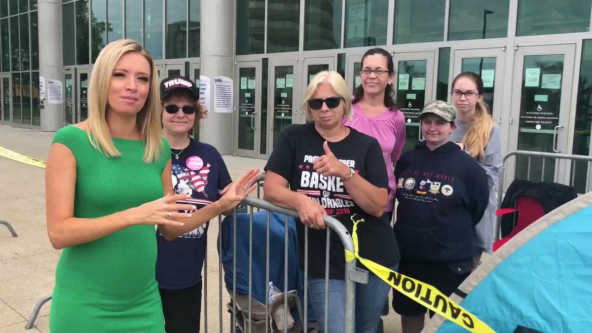 Meet Karen - camping out 36 HOURS BEFORE the @realDonaldTrump rally in Manchester, New Hampshire!  She's FIRST in line at her FIRST @TeamTrump rally!!  ALL the campers so far are WOMEN FOR TRUMP‼️ https://t.co/tEvxJsZicS