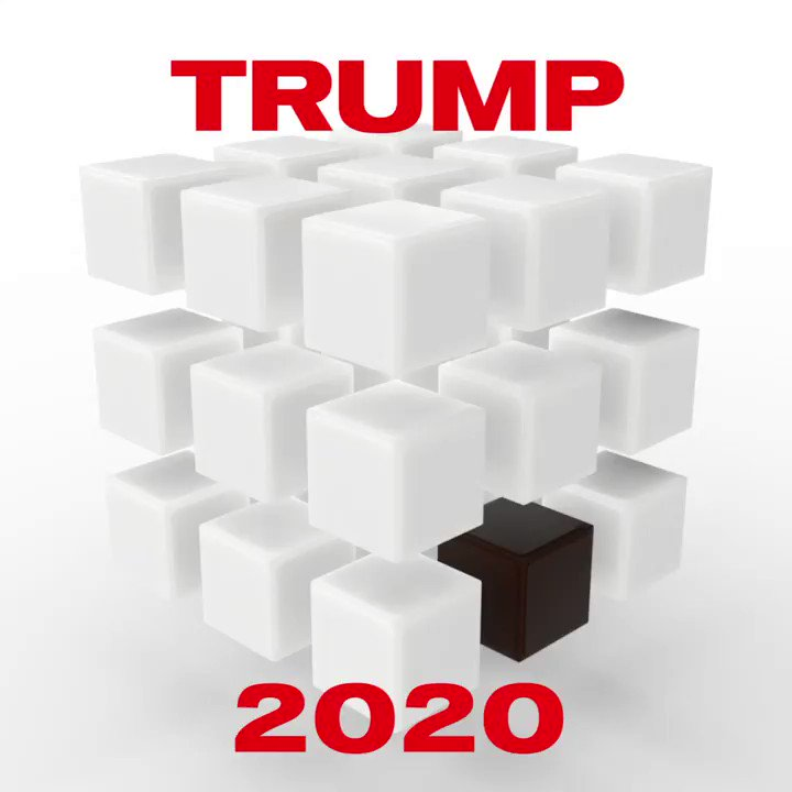 For his reelection campaign @realdonaldtrump commissioned a reengineering of the iconic Rubik's Cube. The puzzle is now a simple to solve racist roadmap to Keep America Great.
