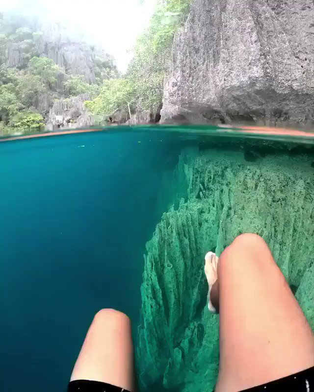 Crystal clear waters... scary or not...? 😯