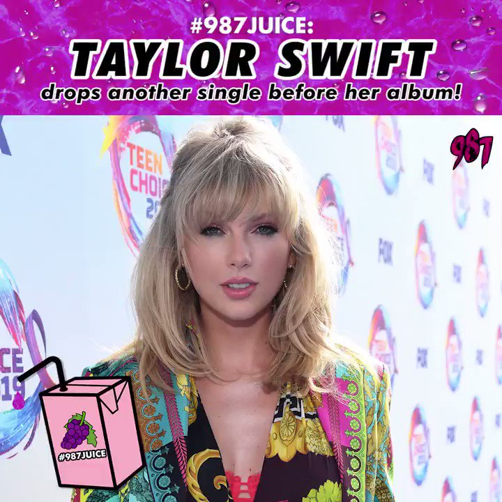 Calling at Swifties, are you guys counting down to @taylorswift13s upcoming album too? Weve got a week to go to the release of her album and she has just released a single with the same name as the upcoming album - Lover! What do you guys think of it? Tweet us! #987JUICE