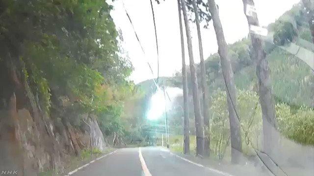 台風10号 倒木の瞬間映像 国道が通行止め 京都 右京区#nhk_news #nhk_video